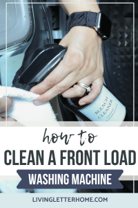 How to clean a front load washing machine pin graphic