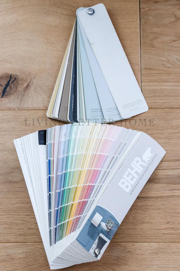 RH and Behr paint color fan