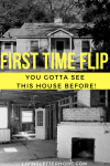 Follow along with our first flip property graphic