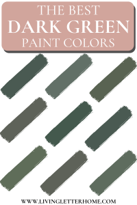 The best dark green paint color ideas graphic