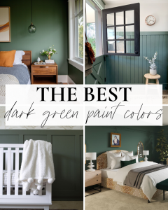 The best dark green paint colors featured image