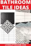 Bathroom tile ideas Pinterest graphic