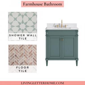 Floor and Decor Farmhouse Bathroom Mood Board