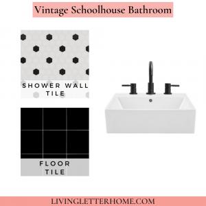 Floor and Decor Vintage Schoolhouse Bathroom Mood Board