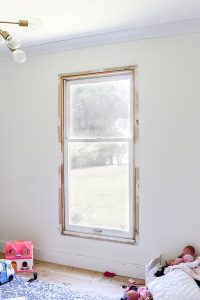 window on white wall with no trim