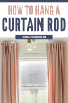 How to hang a curtain rod graphic