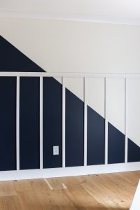 board and batten feature wall