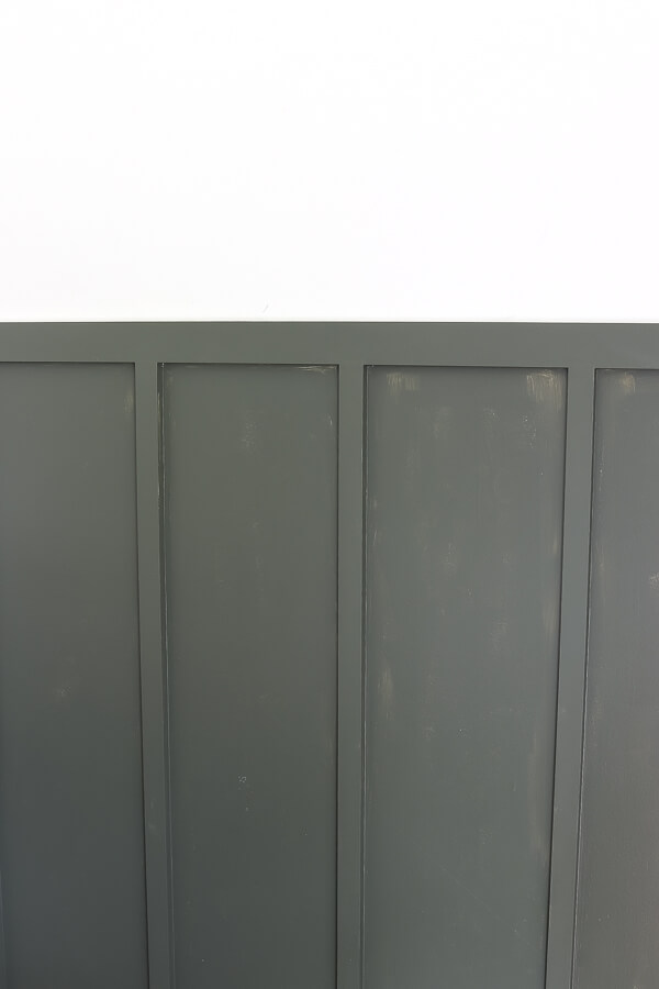 Behr Black Bamboo board and batten wall