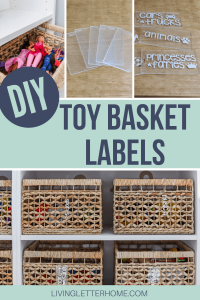 DIY toy basket labels graphic