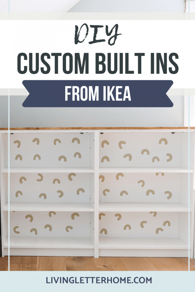 DIY Custom Built Ins from Ikea Billy Bookcases