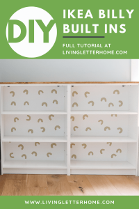 DIY Ikea Billy Built Ins graphic
