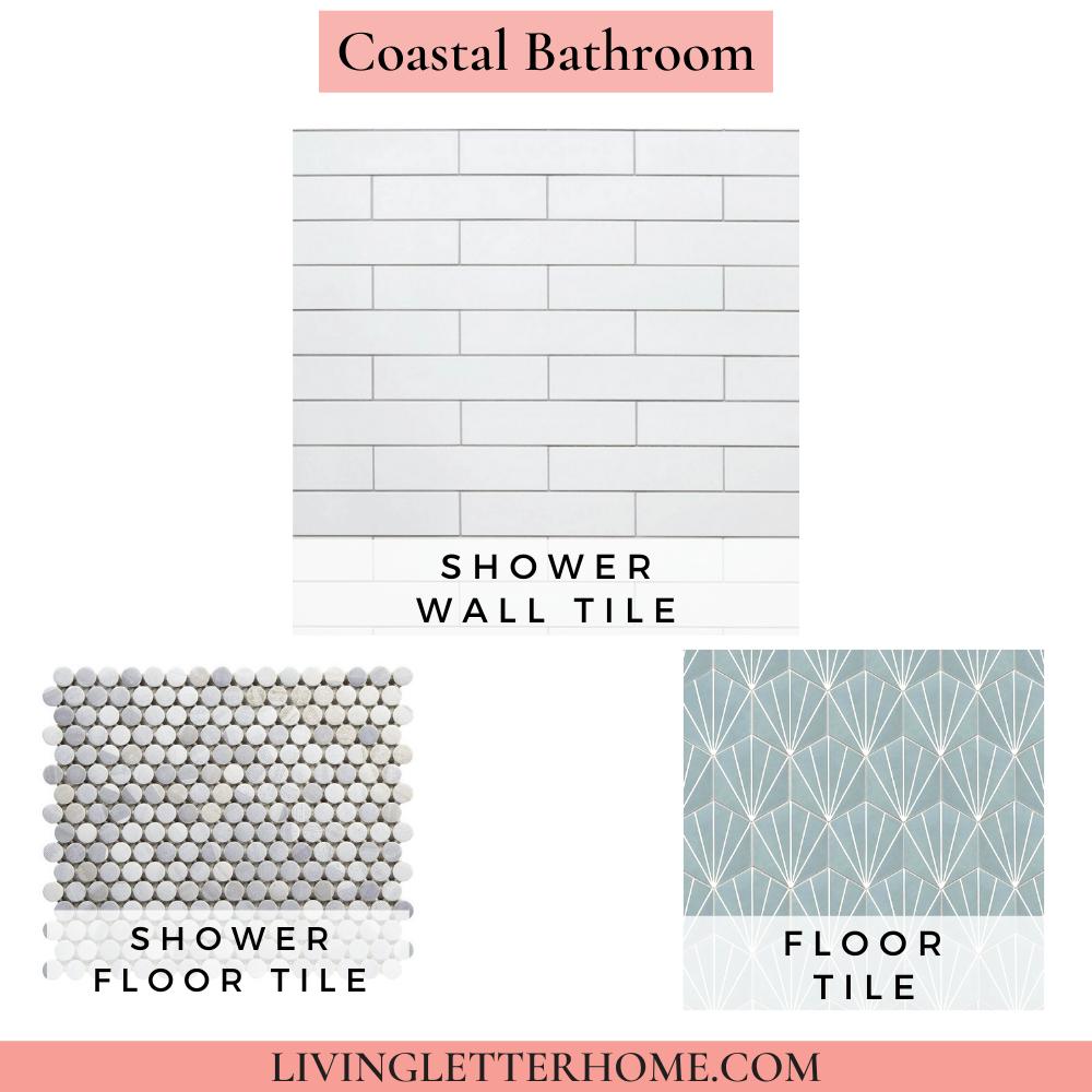 Floor and Decor Coastal Bathroom Mood Board