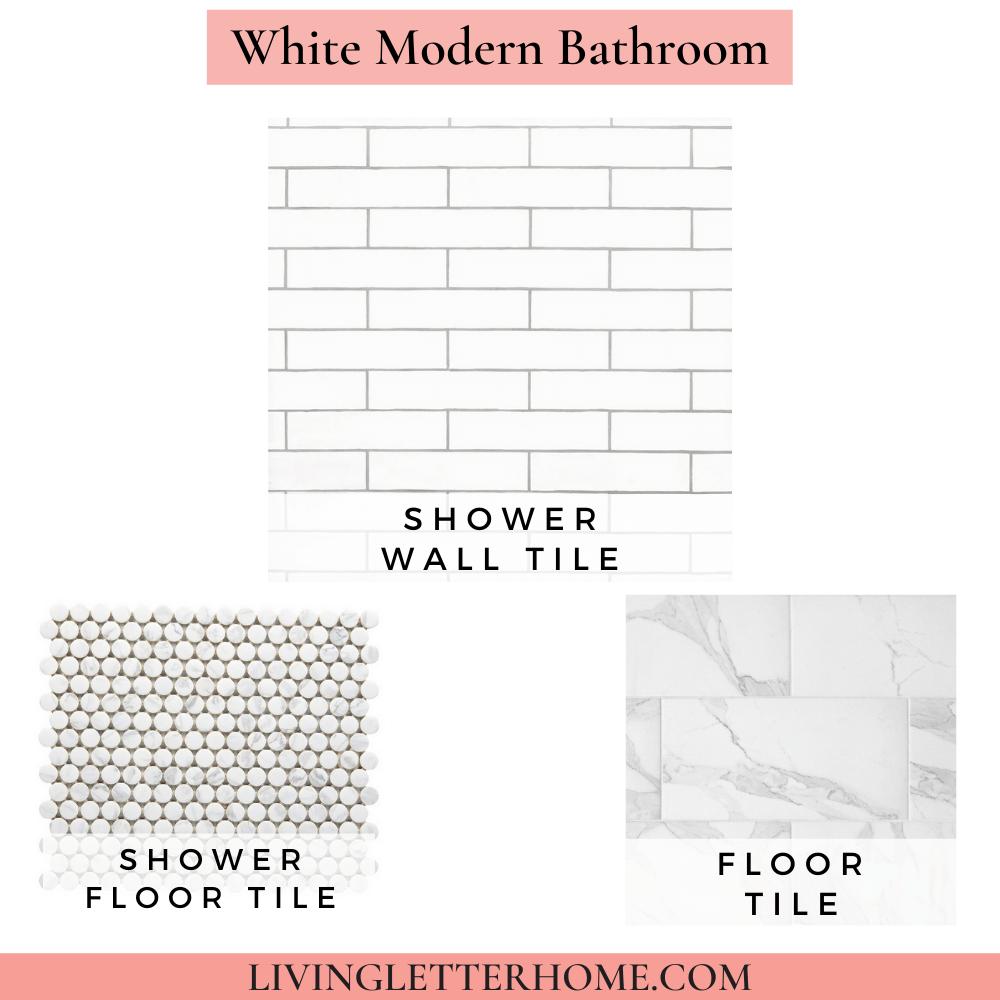 Floor and Decor white modern Bathroom Mood Board