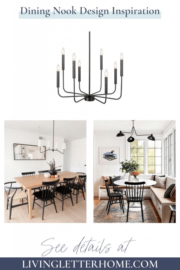 Dining Nook Design Inspiration Graphic