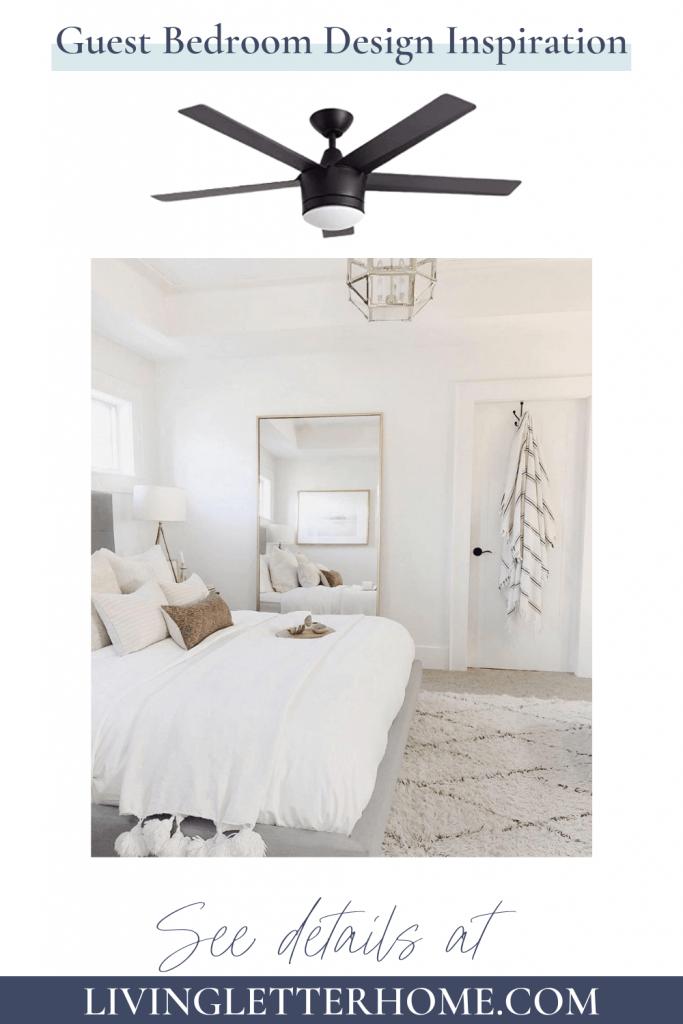 white bright guest bedroom design