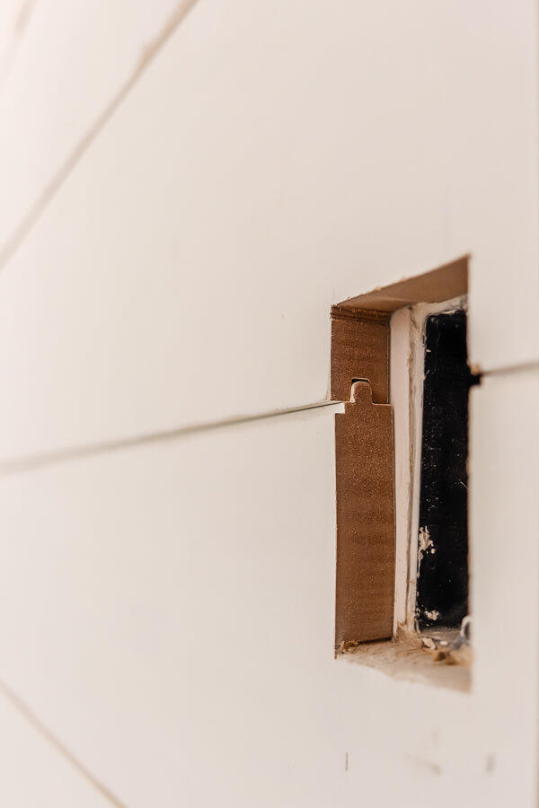 closeup of tongue and groove shiplap