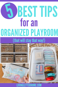 5 best tips for an organized playroom graphic