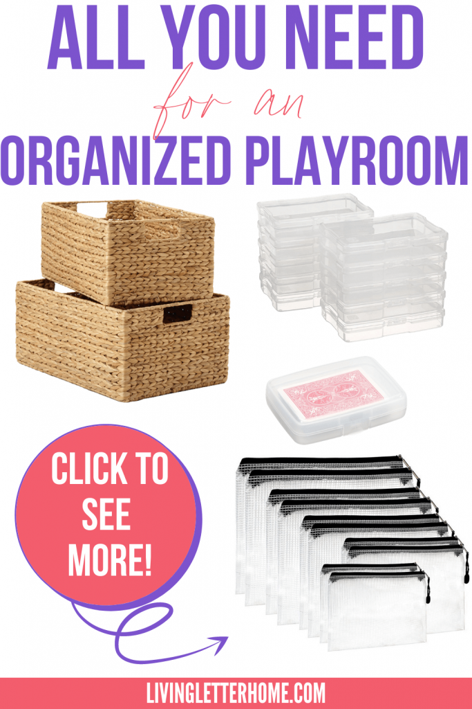 All you need for an organized playroom graphic