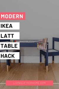 Modern Ikea Latt table hack graphic