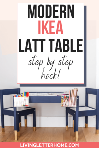 Ikea Latt table step by step hack graphic