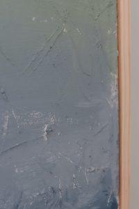 closeup of textured DIY abstract wall art