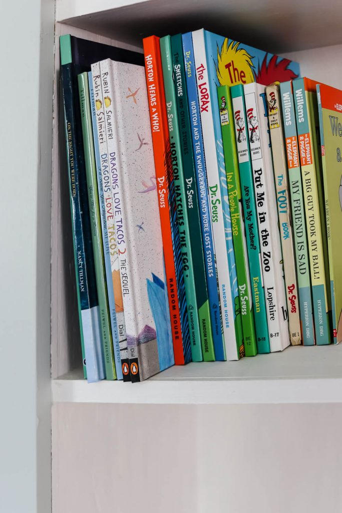 closeup of children's books