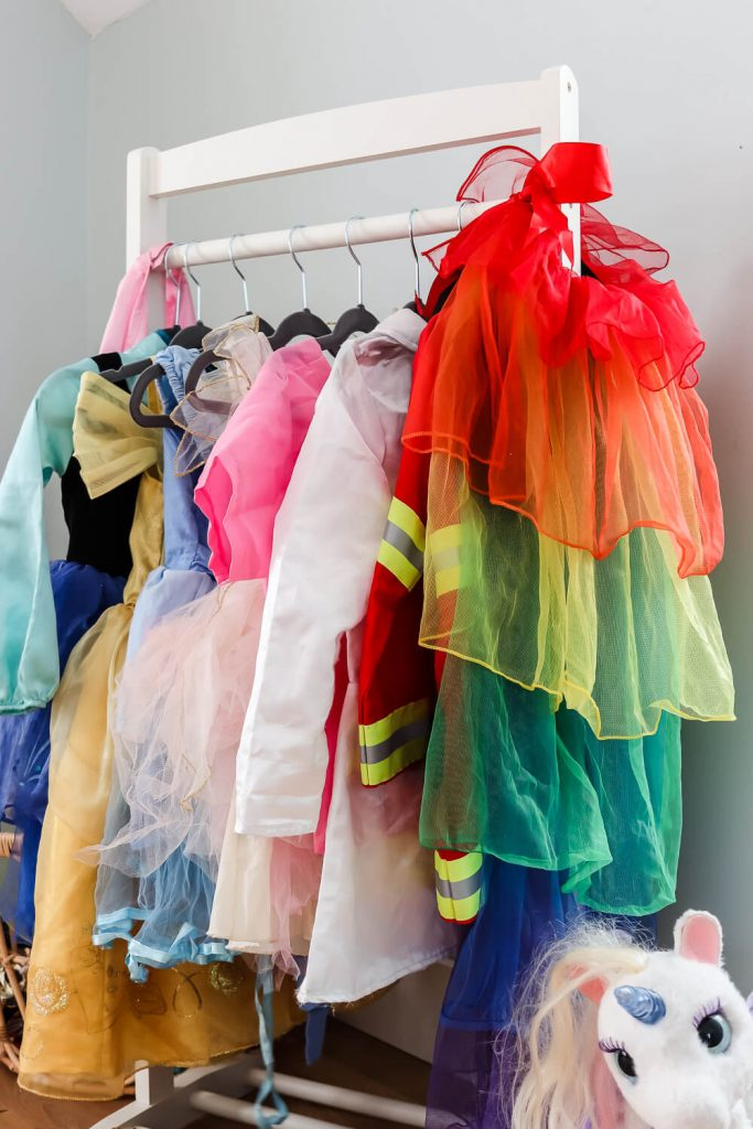 closeup of dressup clothes
