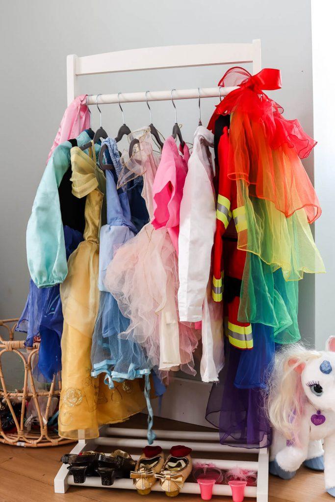 close up of dress up clothes