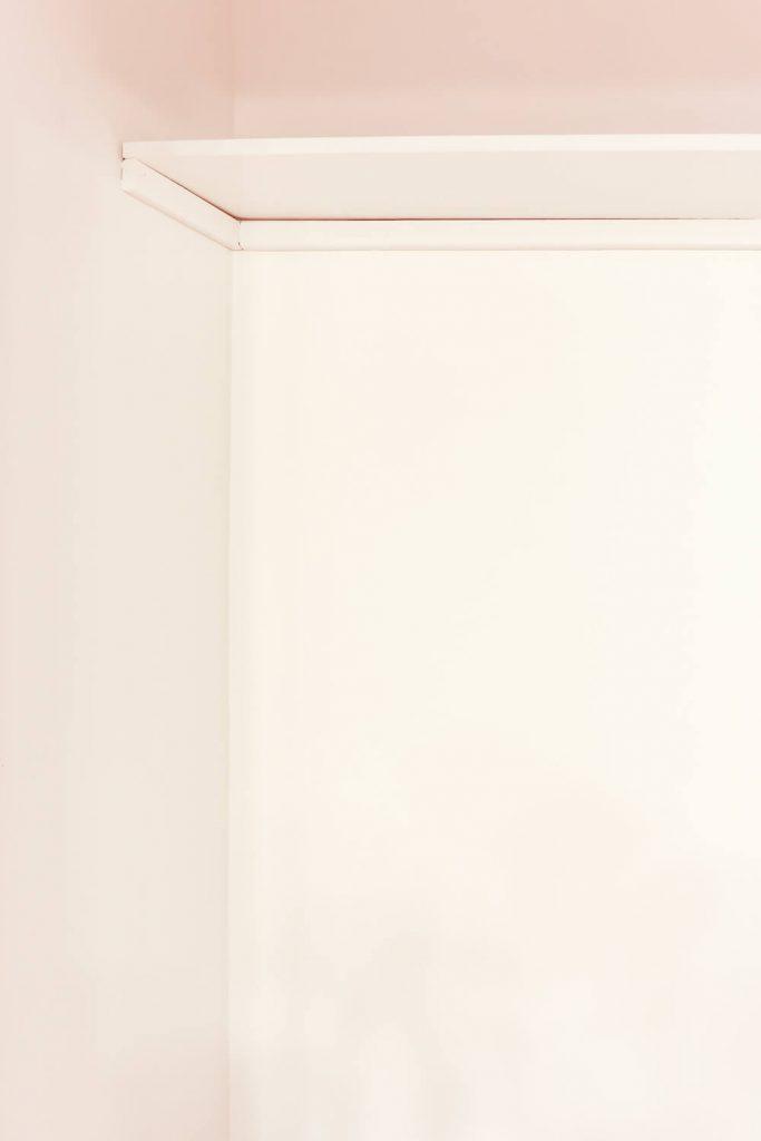 DIY closet shelves shelving unit painted white