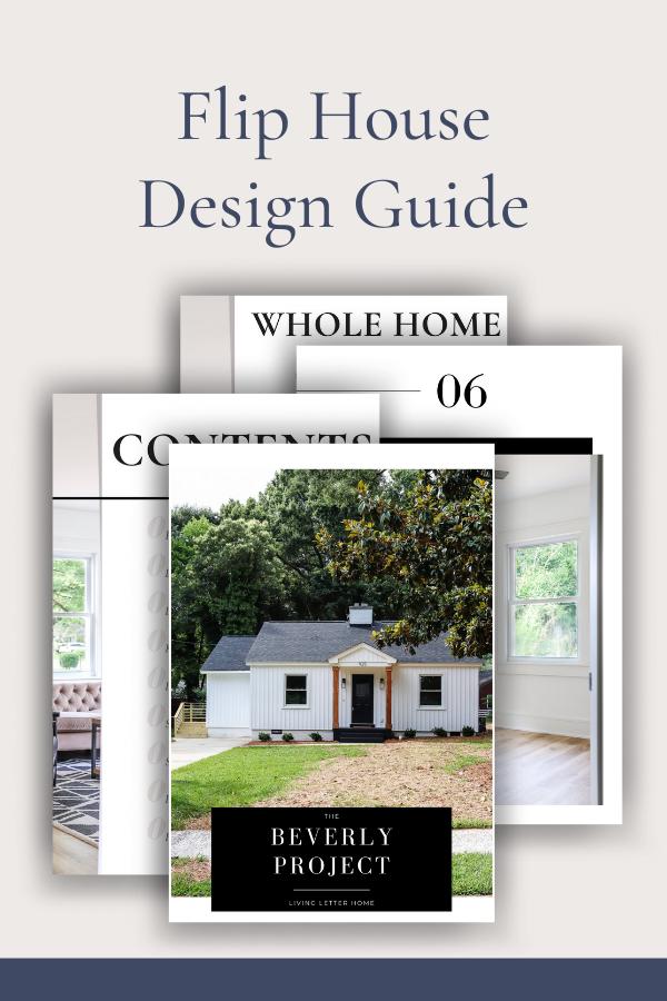 Flip House Design Plans Graphic
