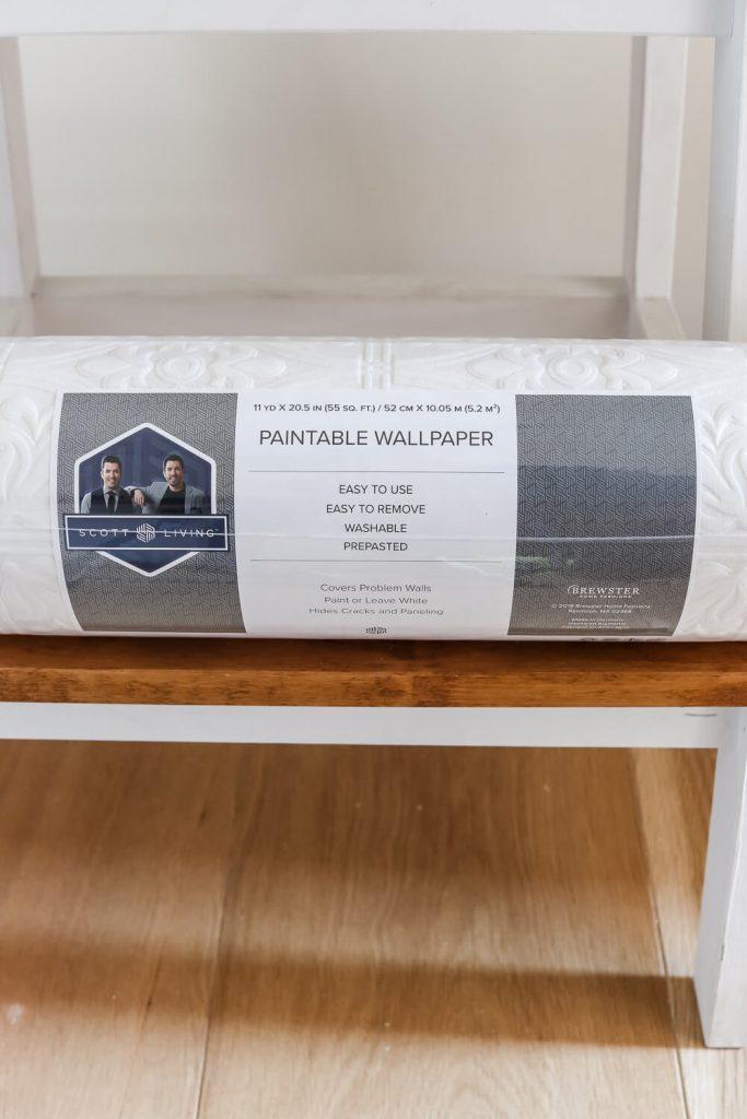 Scott Brothers design paintable wallpaper