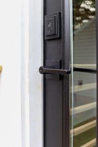 Kwikset halifax matte black keyed door handle