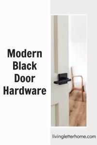 modern black door hardware pinterest graphic