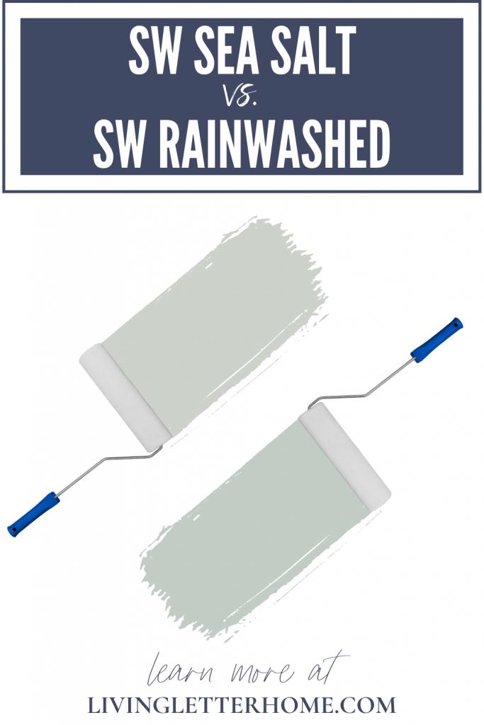 Sherwin Williams Sea Salt vs Sherwin Williams Rainwashed graphic