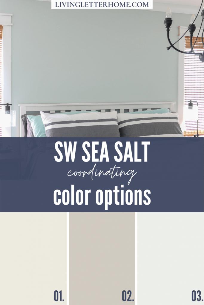 Sherwin Williams Sea Salt Coordinating Color options graphic