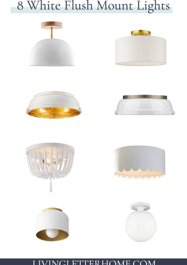 8 white flush mount lights graphic