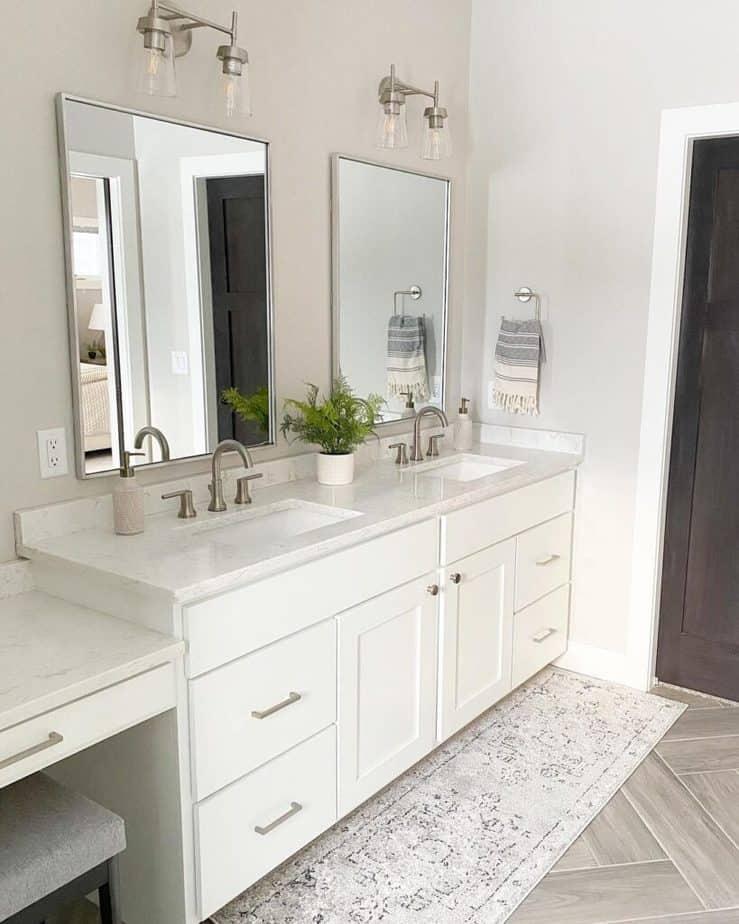 Sherwin Williams Agreeable Gray bathroom