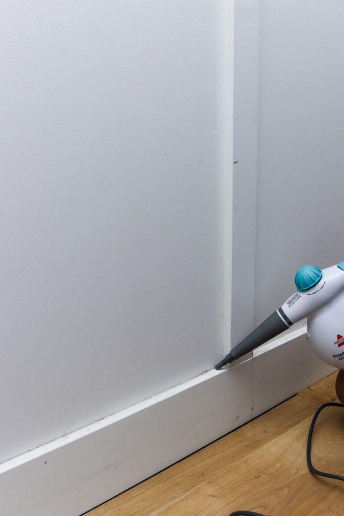 using Bissell powersteamer on baseboards