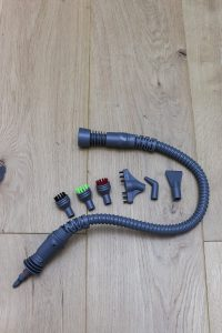 Bissell power steamer with extension hose with 6 attachments