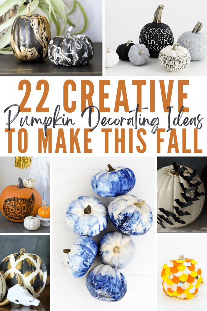 22 Creative Pumpkin Decorating Ideas To Make This Fall Pinterest graphic