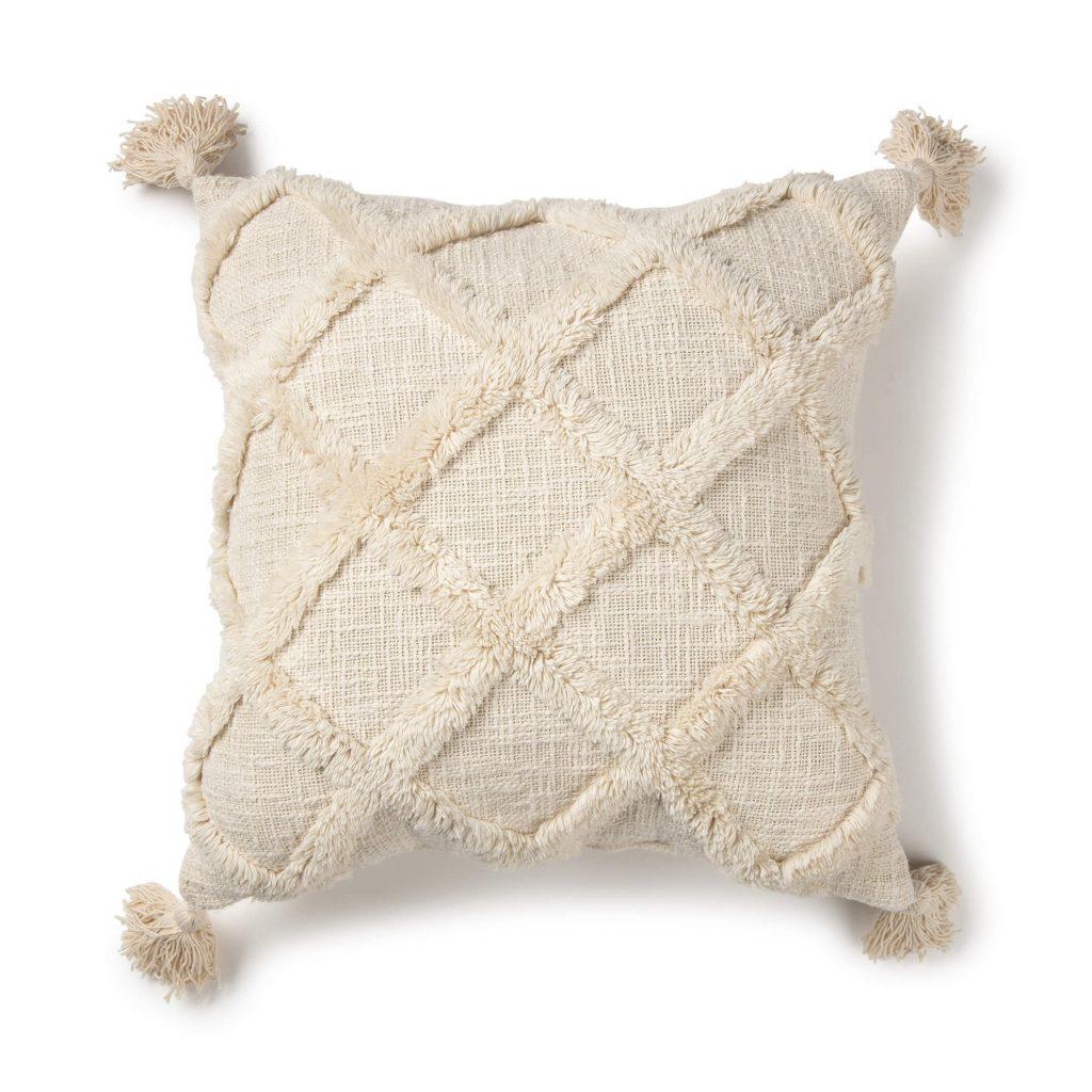 white lattice texture pillow cover
