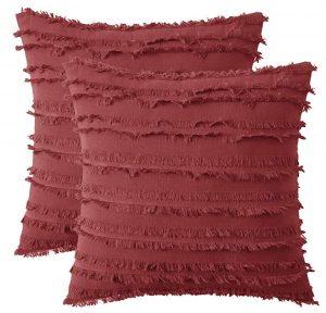 burgandy boho fall pillow covers