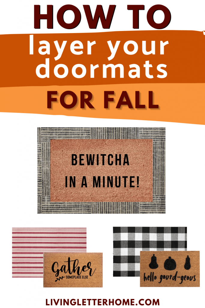 How to layer your doormats for fall graphic