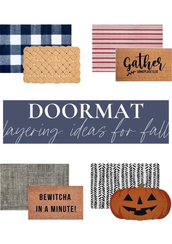 Doormat layering ideas for fall