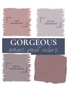 gorgeous mauve paint colors graphic