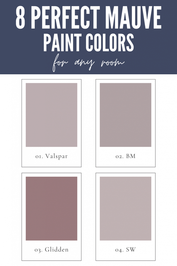 8 Perfect Mauve Paint Colors for any room graphic