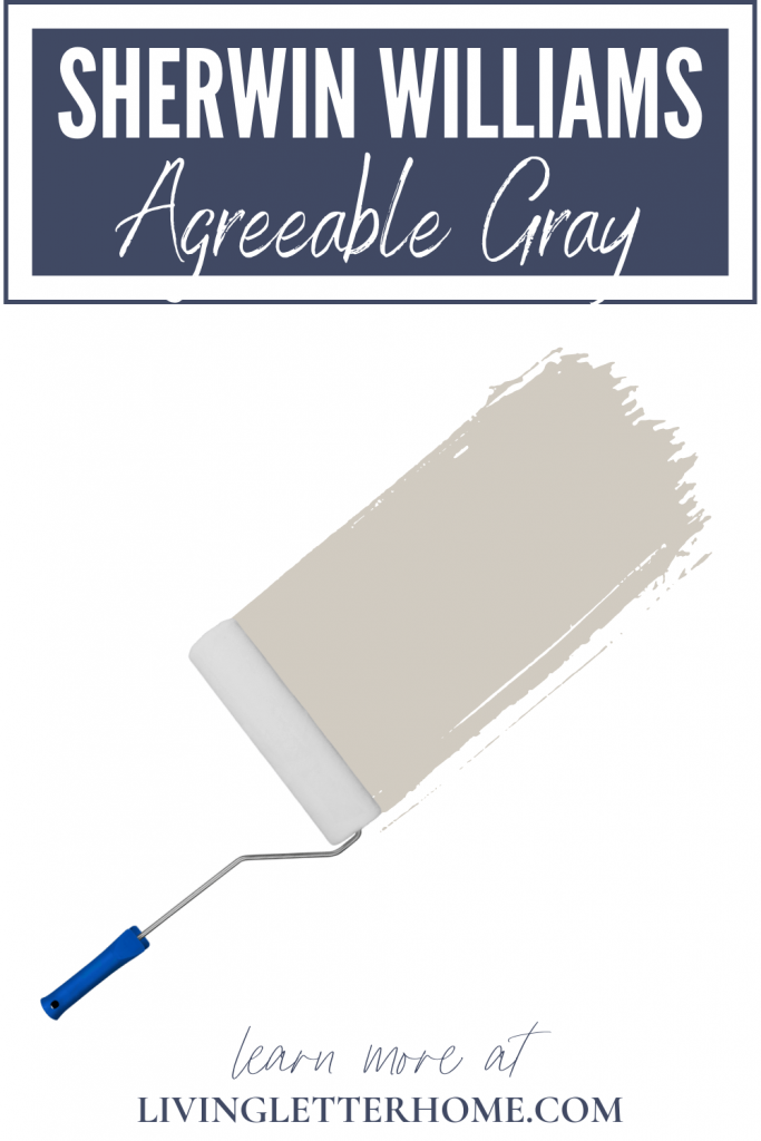 Sherwin Williams Agreeable Gray graphic with paint swatch