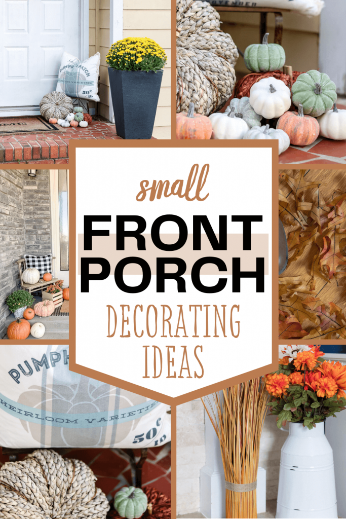 small front porch decorating ideas for fall pinterest graphic